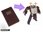 Transforms from Bible to robot!