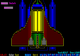 ANSI art drawn using the TheDRAW